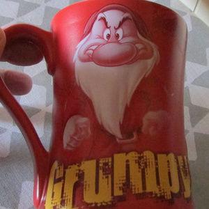 Unusual-GRUMPY-red-large-coffee-mug-by-Disney